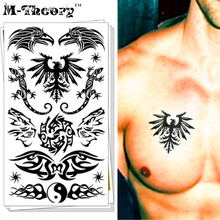 M-theory Black Lizard Eagle Body Makeup Temporary 3d Tattoos Sticker Henna Flash Tatoos Body Arts Swimsuit Bikini Makeup Tools