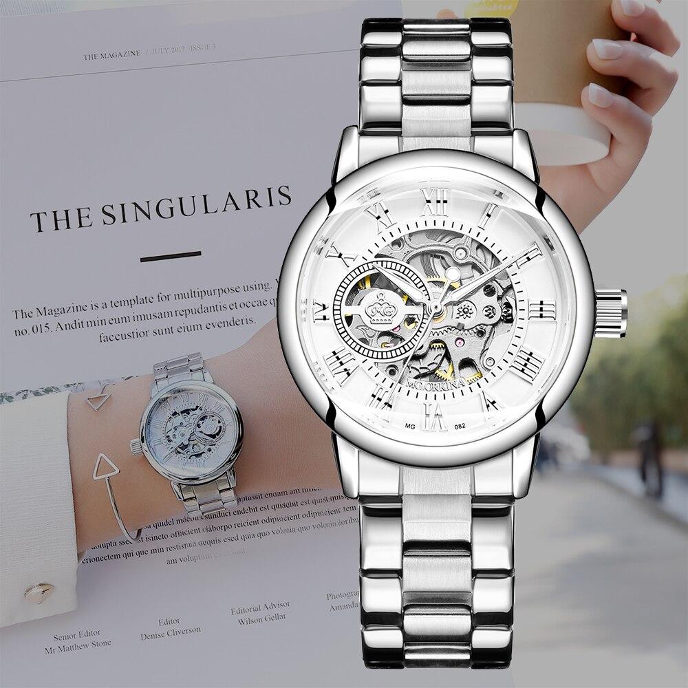 Image 5 - New Fashion Luxury Brand Skeleton Women Mechanical Watch Watch women Automatic Mechanical Watches for women Montre FemmeWomens Watches   -