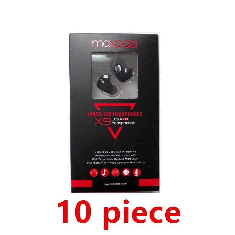10 pz Moxpad X9 pro Dual Driver Dinamico Professionale In Trasduttore Auricolare Dell'orecchio con Il Mic Super BASS per il telefono Mobile MP3 lettore