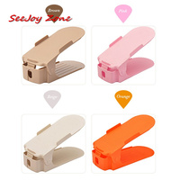 10pcs/Set 7 Colors Fashion Double Shoe Racks Cleaning Storage Shoes Rack Convenient Shoebox Shoes Organizer Stand Shelf