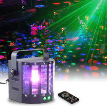 Laser Projector Laser Christmas Satge Effect Light Disco Moving Head Remote Control Dual Sword Butterfly Stage Light DMX512