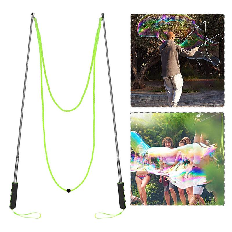 25CM Big Size Adjustable Outdoor Bubble Toys Long Bubble Machine Gun Bar Sticks Without Water For Kids Soap Bubble Toy