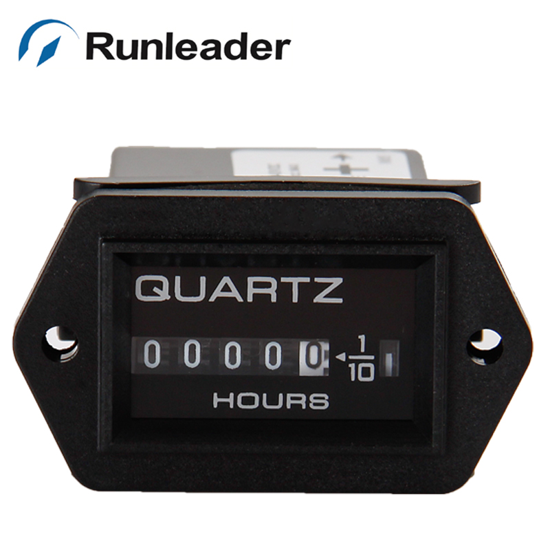 Runleader 5pcs lot DC12 40V Mechanical Hour Meter for Diesel Engines Mower Tractor Boat generators mower
