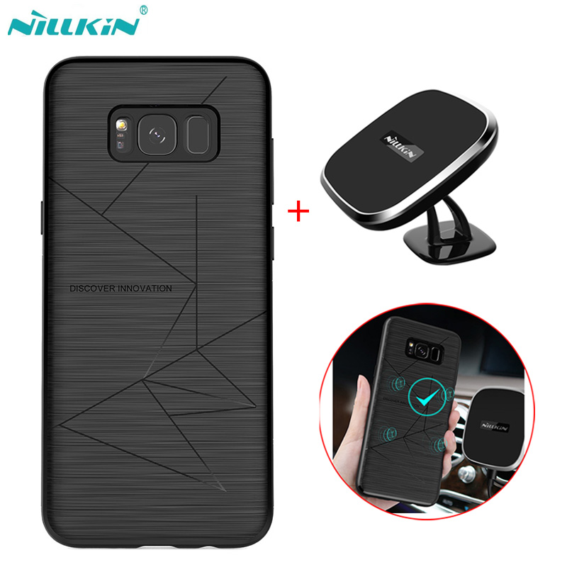 For samsung galaxy s9 s9 plus case NILLKIN qi wireless charger pad+Magic wireless charger receiver cover combination for s8 s8+