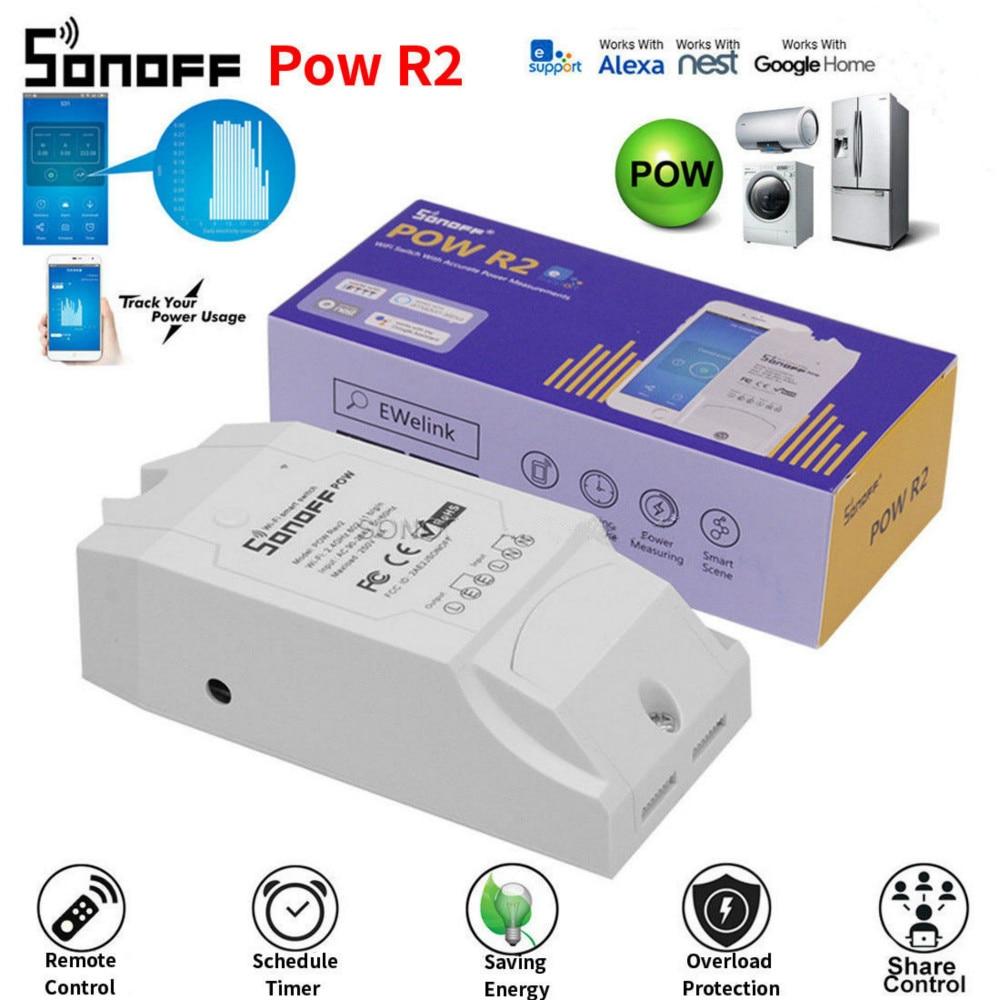 Sonoff POW POW R2 surveillance de la consommation d'énergie en temps réel télécommande de synchronisation