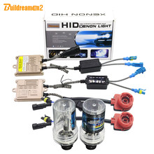 Buildreamen2 D2 D2S D2C D2R AC HID Volledige Xenon Kit Ballast + Lamp + Kabelboom 4300 K 6000 K 8000 K 10000 K 12 V Auto Licht Koplamp(China)