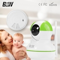 Security IP Camera Baby Monitor + Smoke Detector Surveillance Camera Wireless Infrared Home Alarm System Wifi Camera BW12GR