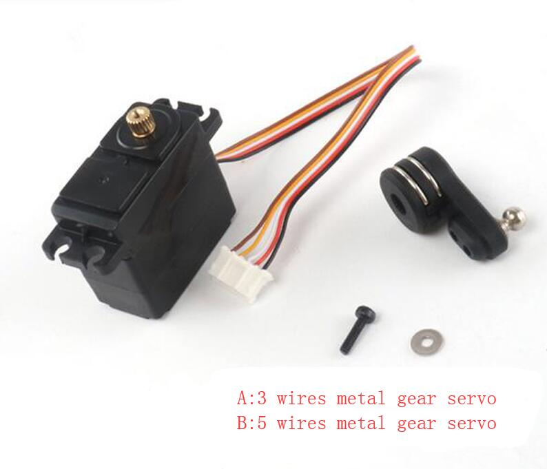 Metal Gear Servo 3 Wires Metal Servo 5 Wires Servo