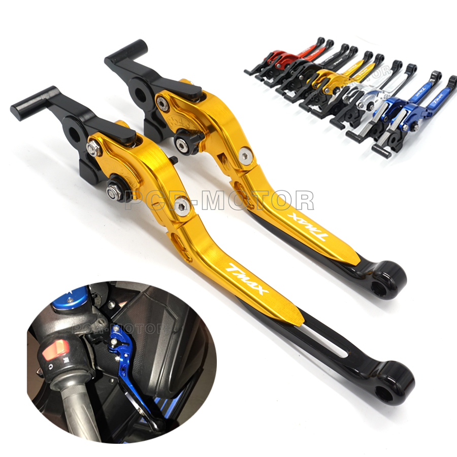 One Pair Motorcycle brakes CNC Foldable Brake Clutch Levers For YAMAHA TMAX500 2008 2011 TMAX 530