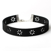 2016 Vintage Harajuku Black Velvet Choker Necklace for Women Gothic Hollow Flower Chokers Collar Collier Bijoux Gifts YR008