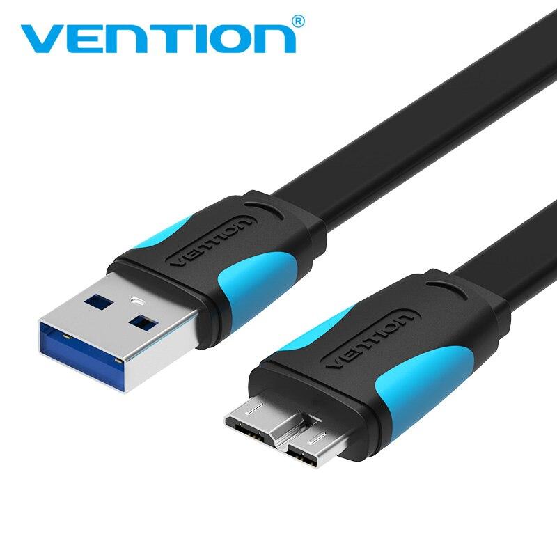 Vention מיקרו USB 3.0 כבל 2 m 0.5 m מהיר USB מטען נתונים סנכרון כבל USB 3.0 נייד טלפון כבל עבור Samsung S5 קשה כונן דיסק