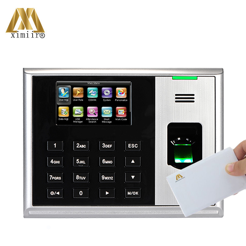 Fingerprint Time And Attendance Systems 3 Inch Color Screen TCP/IP USB With 13.56KHZ IC Reader ZK Hot Device S30 Time Attendance
