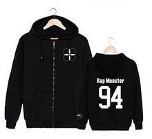 Kpop BTS Bangtan men women JungKook WINGS TOUR character Pullover Hoodies Clothes Print fleece hooded Sweatshirts Concert shirt