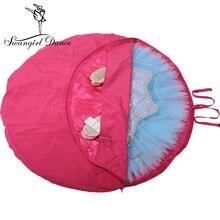 حقيبة باليه توتو باللون الأحمر الوردي ، حقيبة باليه للرقص احترافية ، حقيبة حفلات الرقص توتو AS8630