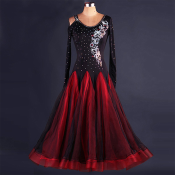 2018 Ballroom Competition Dance Dress Kaka Dance Dresses Flamenco Dress For Latin Dance  Dress Women For Dance DQ19048