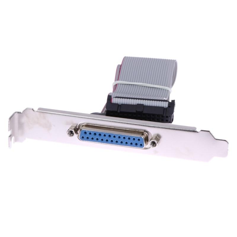 все цены на  For Motherboard DB25 1 Port Serial Parallel PCI Slot Header Cable Bracket  онлайн
