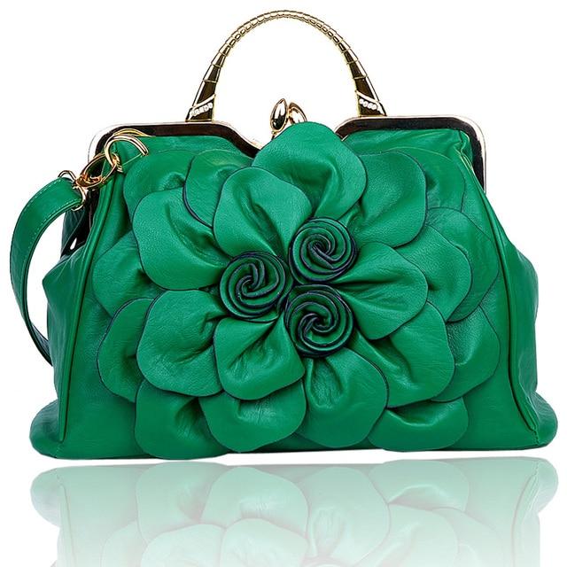 2017 women's summer handbag rose big flower bag fashionable casual all-match handbag messenger bag