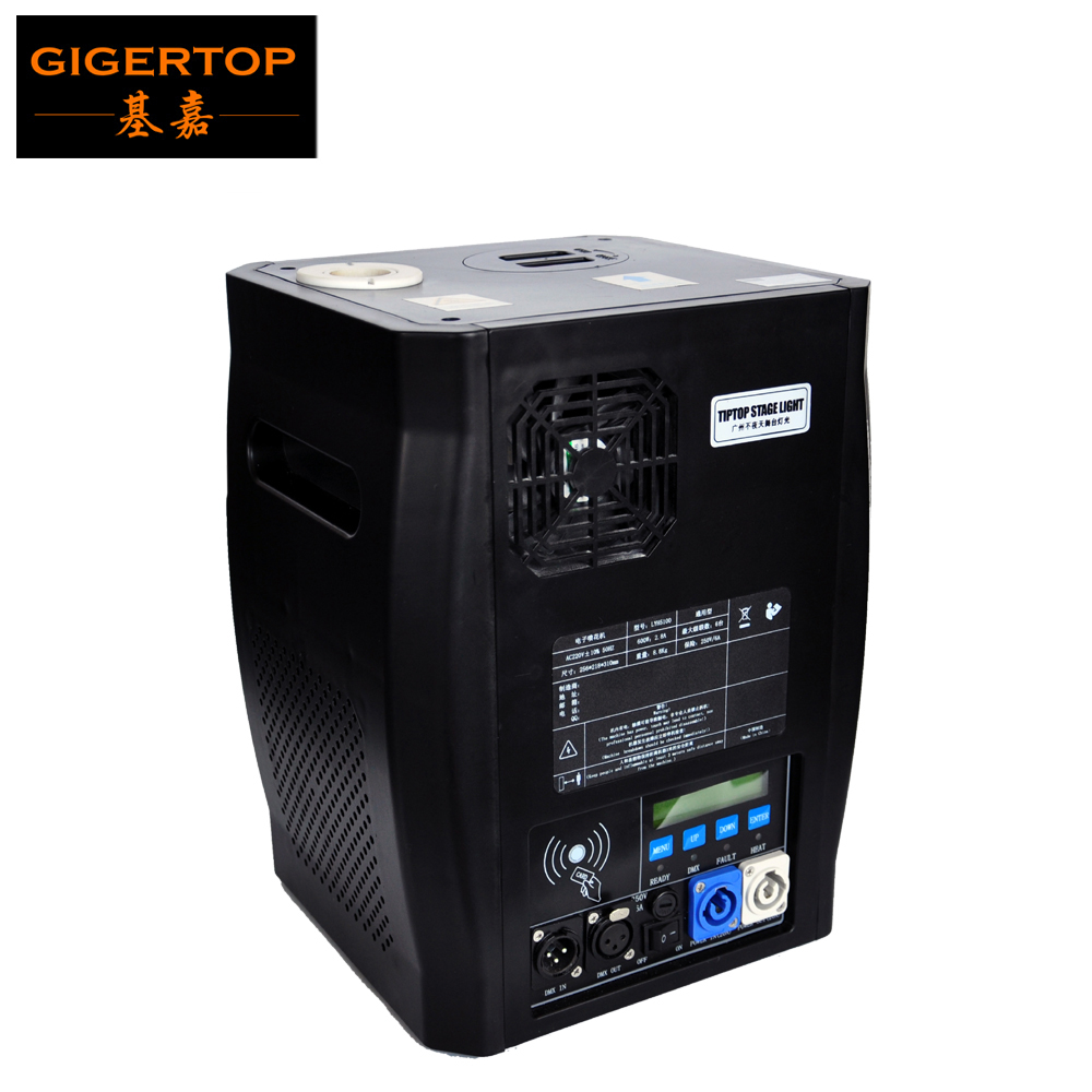 Gigertop 600W New Cold Fireworks Machine Power IN OUT Socket Daisy Chain Connection High Jet Distance
