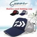 Daiwa Ao Ar Livre malha wicking hat pesca Camping Caminhadas Caça Pesca Ao Ar Livre verão Novo chapéu de sol pesca