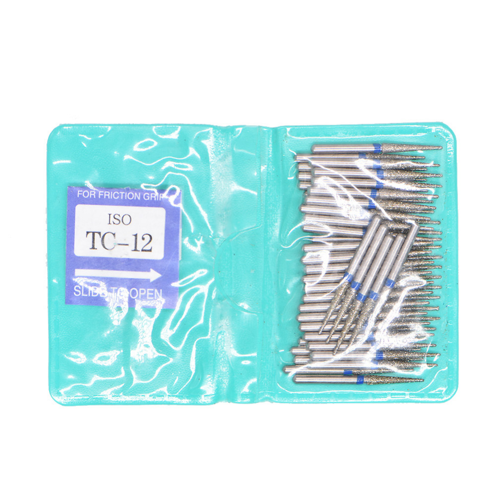 50pcs/bag Dental Tools Dentistry Dental Diamond FG High Speed Burs For Polishing Smoothing BC BR FO SF SERIES Dental Burs 1.6mm