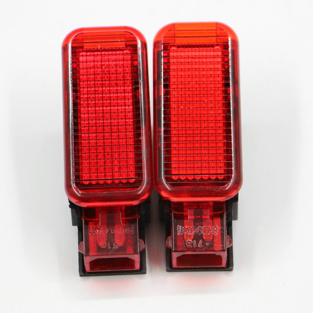 US $4 6  2*PCS Pieces Set New Door RED Warning Lights lamp Apply to AUDI A3  A4 A5 A6 A7 A8 Q3 Q5 8KD 947 415 8KD947415-in Signal Lamp from Automobiles