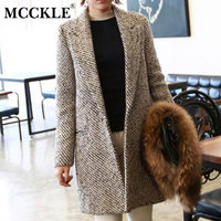 Women S Trench Coat 2015 Fashion Spring Winter Long Wool Blends Over Coats Casacos Femininos Vintage