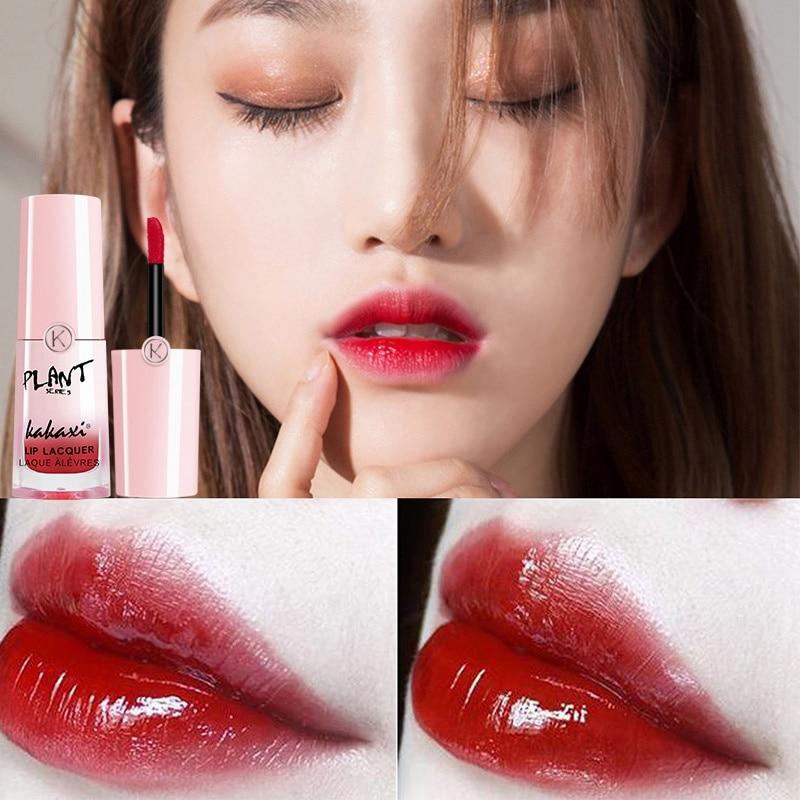 Liquid Velvet Matte Lipstick 3D Mirror Lip Glaze Long Lasting Moisturizing Waterproof Lip Balm Orange Red Lip Gloss Maquiagem 3