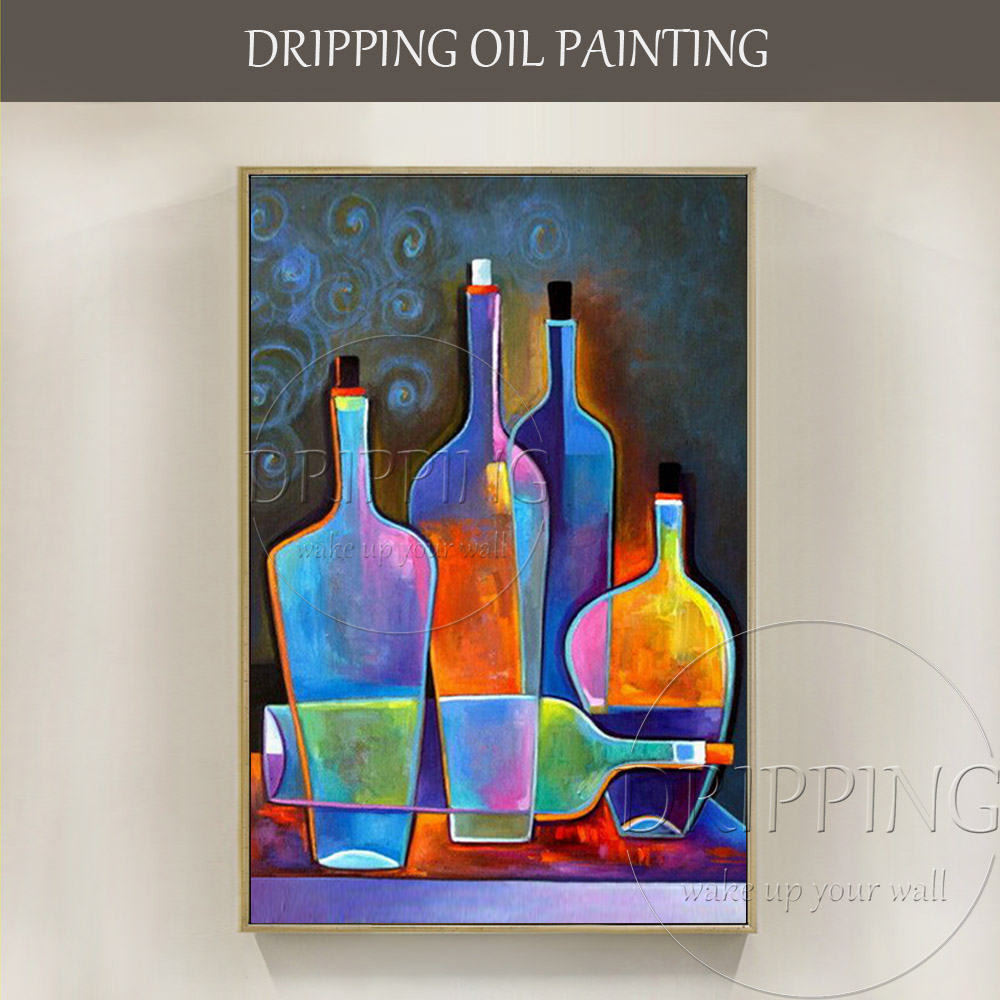 Professional Artist Hand Painted High Quality Abstract: Expert Artist Hand Painted High Quality Abstract Bottle