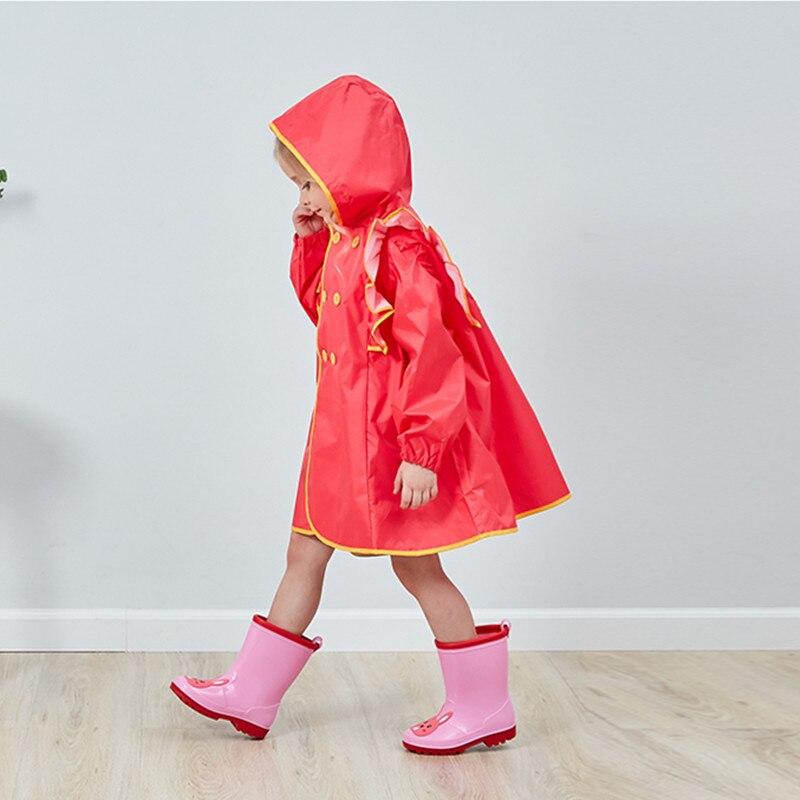 85 140CM waterproof raincoat for children kids baby rain coat poncho boys girls primary school students rain poncho jacket in Raincoats from Home Garden