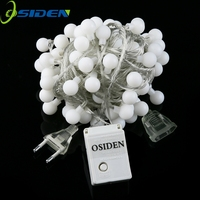 OSIDEN Globe String Light 33Ft G15 With 100 Whtie Bulbs Listed For Indoor Outdoor Light Decoration
