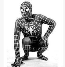 black spider costume for adults black spider white stripe black spider man costumes black white striped spider halloween cosplay