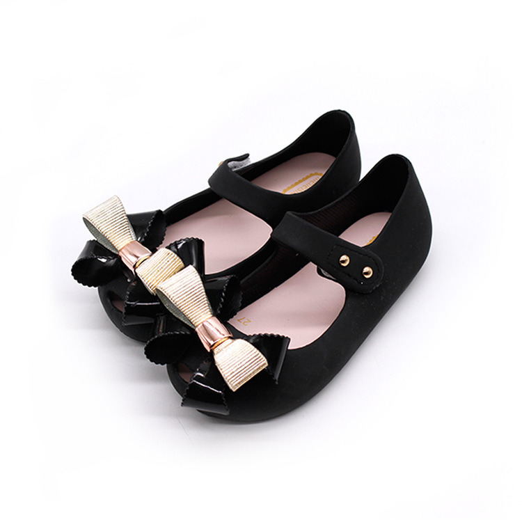 New Mini Melissa Jelly Shoes Butterfly Knot Soft Bottom Fish Head Girls Sandals Baby Shoes 3 Color Melissa Shoes 14-16.5cm