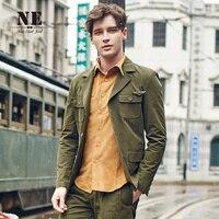 브랜드 남성 Clothing2015 새로운 도착 레트로 남성 정장 재킷 재킷 포켓 육군 녹색 슬림 맞는 재킷 무대 의상