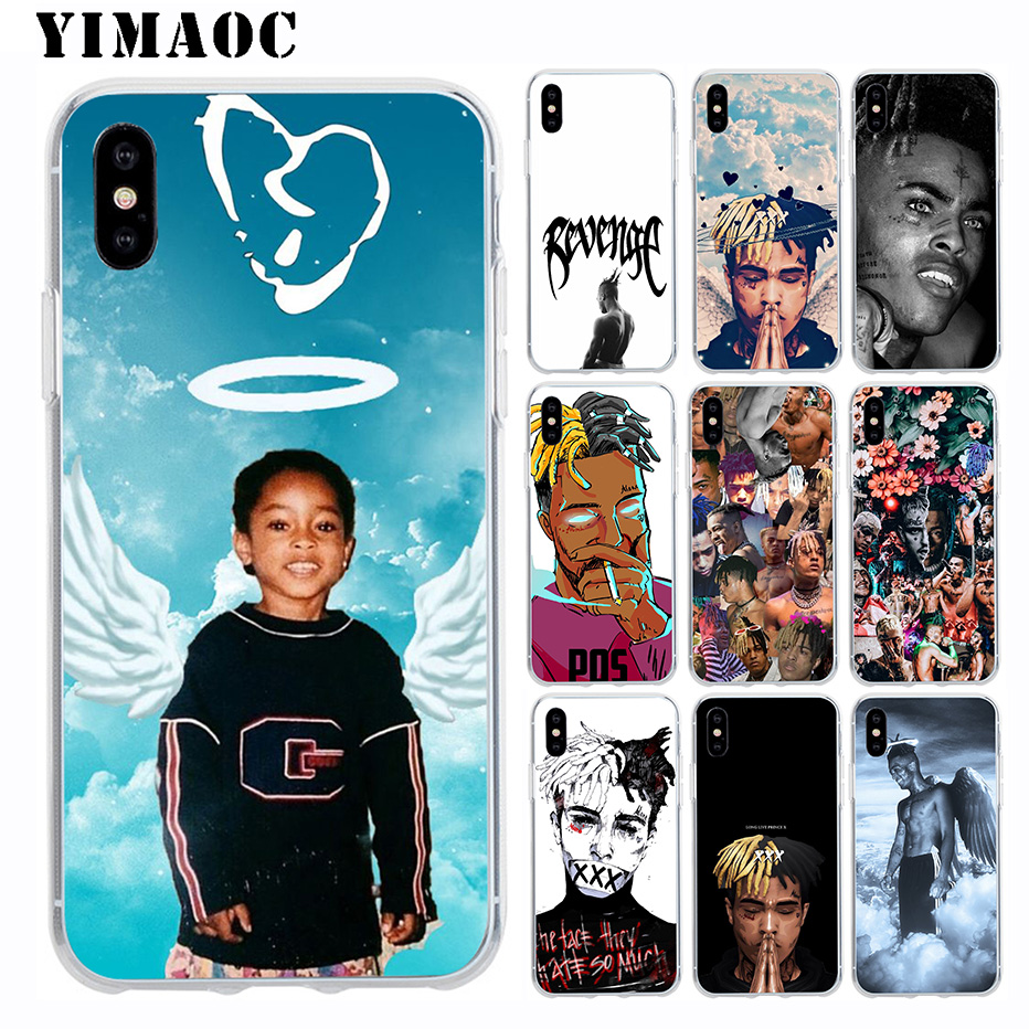 <font><b>Xxxtentacion</b></font> Design Skin Soft Silicone <font><b>Case</b></font> for Apple <font><b>Iphone</b></font> 11 Pro Xr Xs Max X 10 8 Plus <font><b>7</b></font> 6S 6 Plus SE 5S 5 7Plus 8Plus image