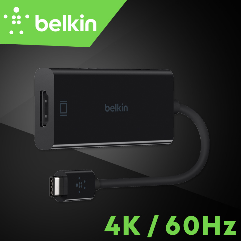 New Arrival Belkin Original USB-C to HDMI Adapter 4K/60Hz Type-C Cable for MacBook Pro to HDTV with Retail Package F2CU038bt aiborg g3000 1 4 3d hdmi to hdmi audiophile digital hdmi cable 5m with original box 5m new