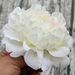 Image 5 - 15pcs/lot 13cm Artificial Happy Peony Silk Flowers Fake Flores Artificiais Wedding Party Decoration Home DIY Landscape Wholesale
