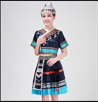 New 2017 Discount Women Hmong Miao Clothing Ancient Traditional Dance Chinese Dress Plus Size Miao Hmong Clothes