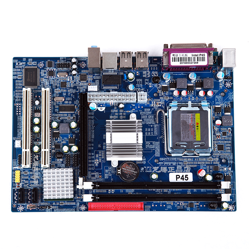 ФОТО Original desktop motherboard P45 LGA 771 DDR3 motherboard fully integrated