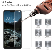 10 Pcs/Lot 2.5D 0.26mm 9H Premium Tempered Glass For Xiaomi Redmi 6 Pro Screen Protector film 5.84 inch