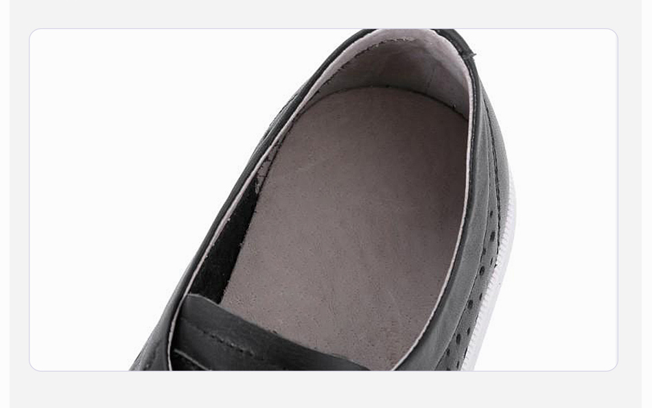 Donna-in 2019 New Women Flats Sneakers Genuine Leather Shoes Lace-up Cut-outs Flat Casual Women Shoes Hollow Summer Black White (11)