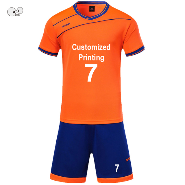 2018 New Mens/Boys Soccer Jerseys Set Kids Football Kits Children Futbol Training Suit Breathable Futsal Uniforms Custom Print