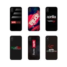TPU transparente cubierta de Aprilia Racing Logotipo de moto para Samsung Galaxy S4 S5 MINI S6 S7 borde S8 S9 S10 Plus nota 3 4 5 8 9