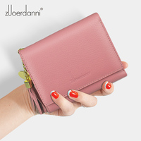 Genuine Leather Women Wallets Slim Small Wallet Women Short Clutch Female Purse Coin Purses Card Holder Coin Bags
