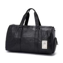 Leather Sport Travel Duffle Bag Women Men PU Hand Shoulder Bags Boy Girls Student Sports Outdoor Gym Hip Hop
