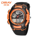 Hot Sale!!! DIRAY Brand Digital Men Sports Watch Dual Time Display Stopwatch Outdoor Casual Running Waterproof Wrist Watches