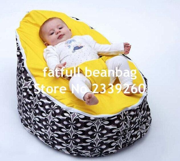 Aggressiv Nur, Keine FÜllungen-gelber Damast Baby Sitzsack, Infant Sitzsack Mit 2 Tops