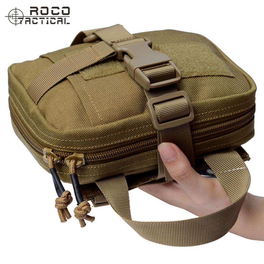 ROCOTACTICAL Qualité Détachable Molle Militaire Militaire Sac Médical Utilitaire Outil Sac Multi-Mission Aid Sac Voyage Medic Sac