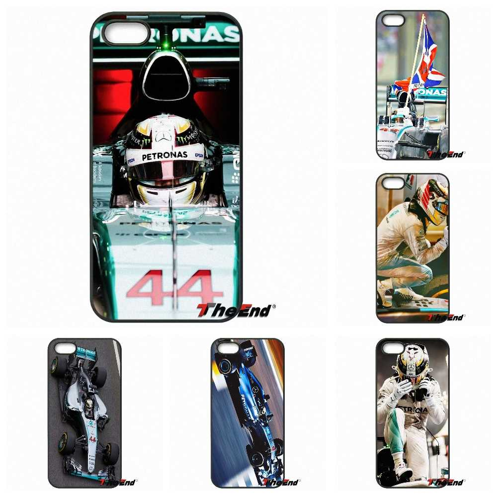 For iPhone X 4 4S 5 5C SE 6 6S 7 8 Plus Galaxy J5 J3 A5 A3 2016 S5 S7 S6 Edge Lewis Hamilton For Cool F1 Star Men Phone Case