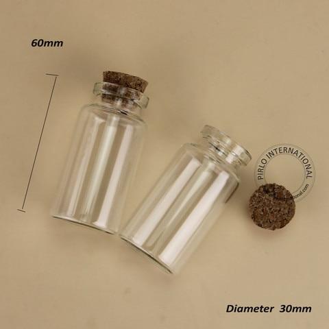 de vidro cortica frasco de amostra vazio