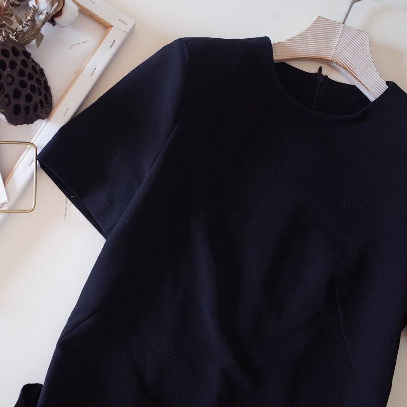 Mignon Ete Femme D'été Manches Femmes Courtes Robes Gâteau Volants Rouge Designer Robe Qualité À De Truevoker Haute ZaqwxfZd